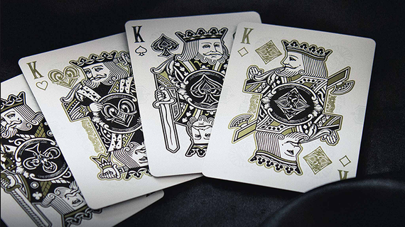 Empire Bloodlines (Black and Gold) Limited Edition Playing Cards by Kings & Crooks, Lee McKenzie