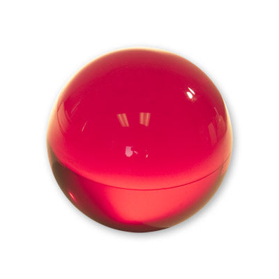 Contact Juggling Ball (Acrylic, RUBY RED, 76mm) - Trick