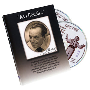 As I Recall (2 DVD Set) - Tony Slydini