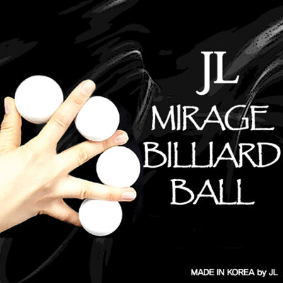 Mirage Billiard Balls by JL (WHITE, 3 Balls and Shell) - Trick