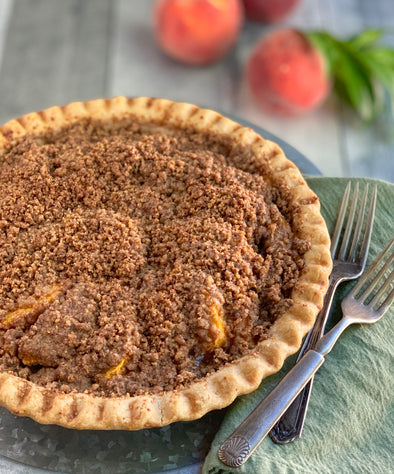Gluten-Free Peach Pie Crumble