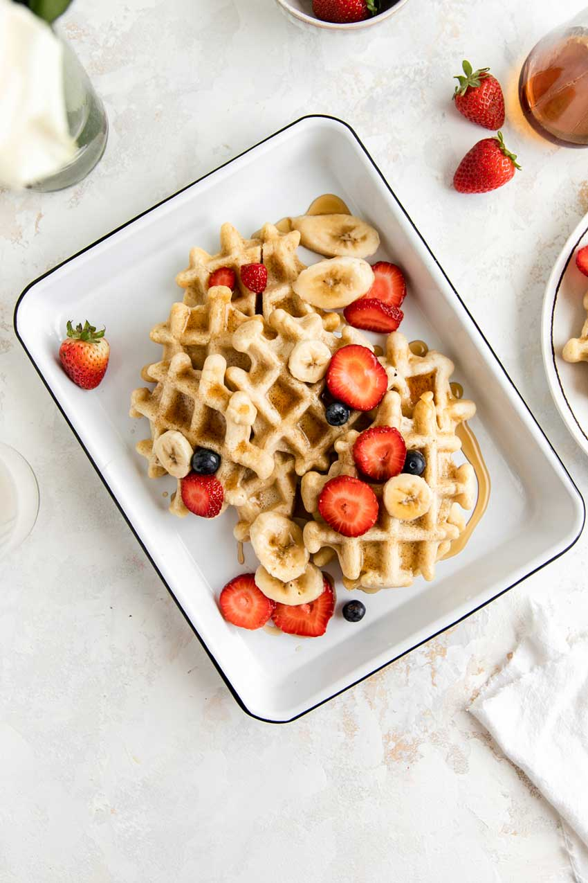 otto's grain free waffles with berries