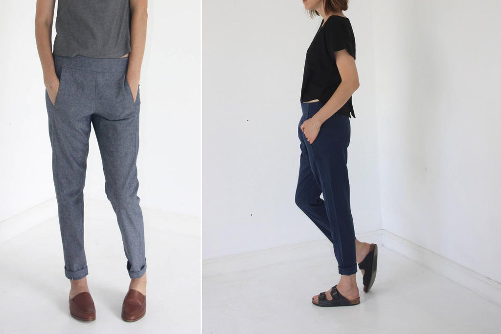 Franch Navy Calyer Pants