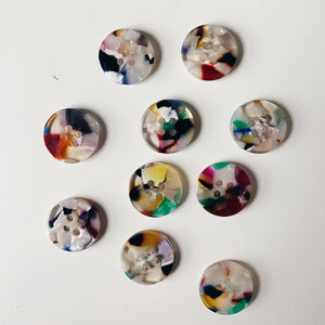 Pigeon Wishes Resin Shirting Buttons - Painterly