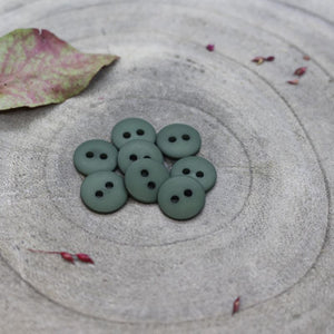 Atelier Brunette 12mm matte buttons in cedar green