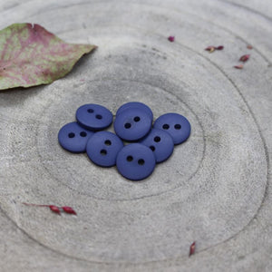 Atelier Brunette 12mm matte buttons in cobalt
