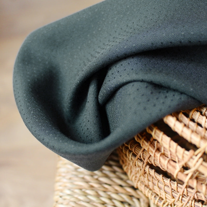 Atelier Brunette Dobby Smokey Viscose Fabric