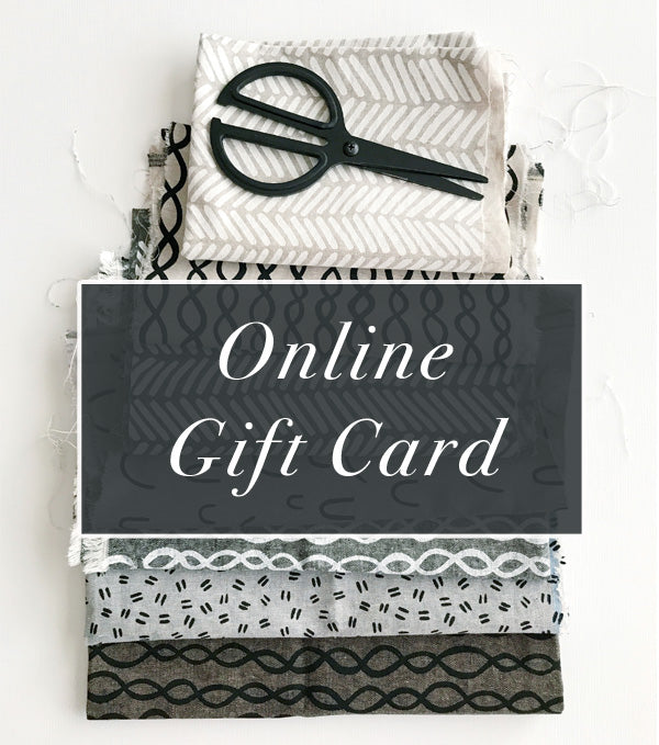 Online Gift Card for Fabric Store