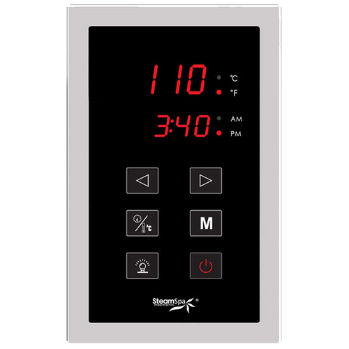 Rectangle Digital Control Panel w/ Programmable Memory Setting For All SteamSpa Models