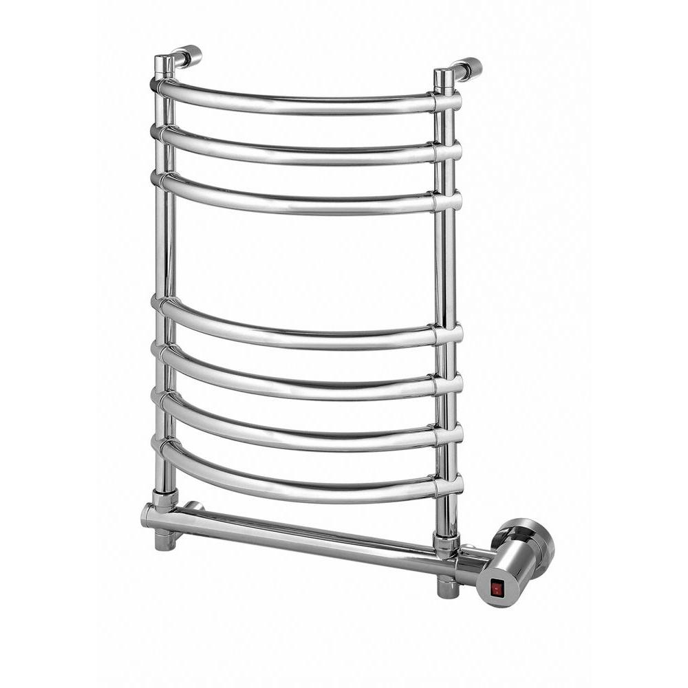 Mr Steam – Wall Mounted 8-Bar Electric Towel Warmer in Polished Chrome