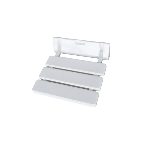 Folding Shower Seat - ABS White Plastic