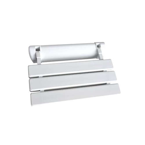C6 Folding Shower Seat - ABS White Bench