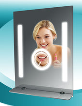 Load image into Gallery viewer, Fog Free Bathroom Tall Mirror with Glass Shelf by SteamSpa