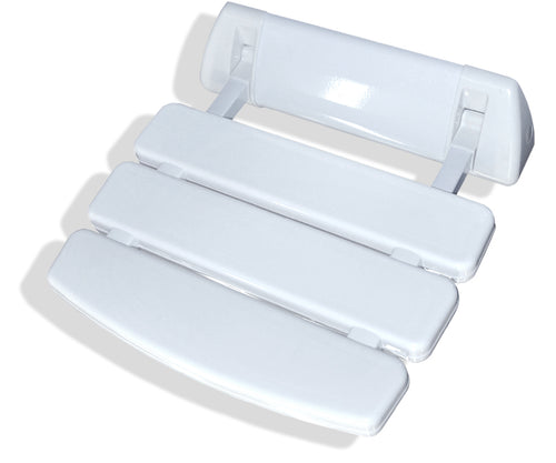 C Folding Shower Seat by SteamSpa - ABS White Plastic