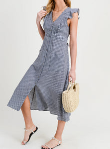 Doe & Rae Gingham Midi Dress