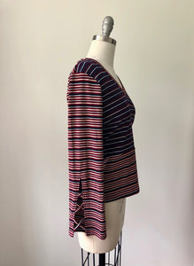 Skies Bell Sleeved Stripe Top