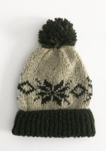 NP Olive Snowflake Winter Hat