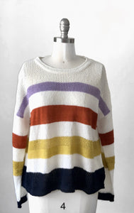 Fate Multi Stripe Lightweight Sweater