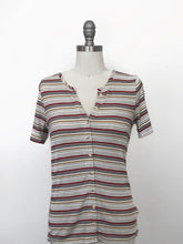 Mystree Striped Button Down Tee