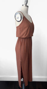 VH Smocked Waist Striped Dress