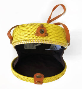 SL Rattan Circle Crossbody