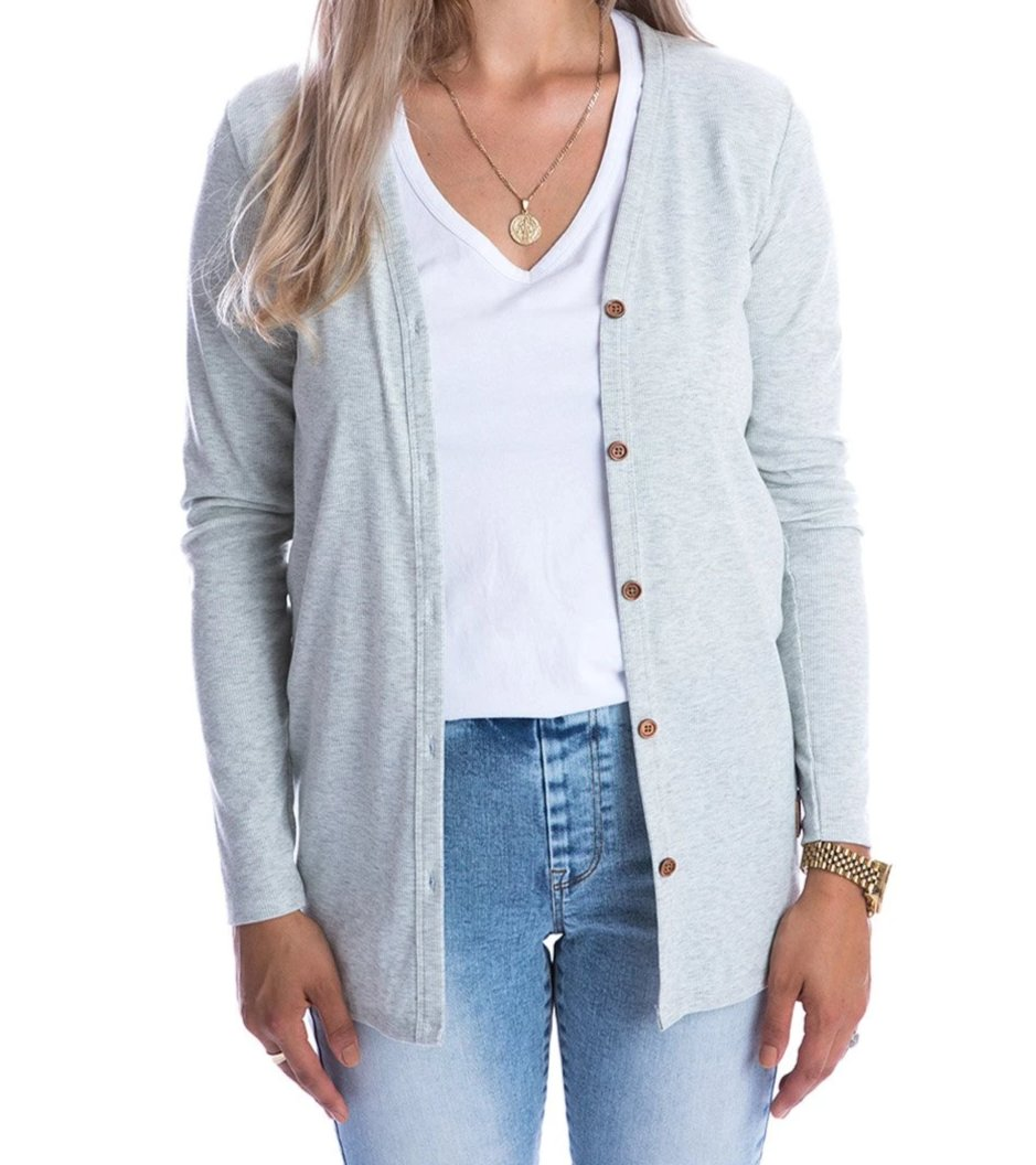 BH Women's Matching Light Grey Cardigan