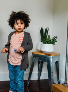 BH Dark Grey Kids Cardigan