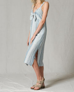 BT Denim Striped Midi Dress