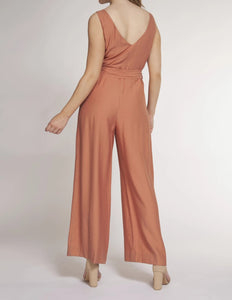 DEX Rust V-neck Jumpsuit