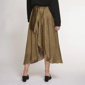 DEX Faux Wrap Midi Skirt