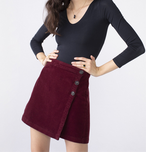 Unpublished Garnet Cord Mini Skirt