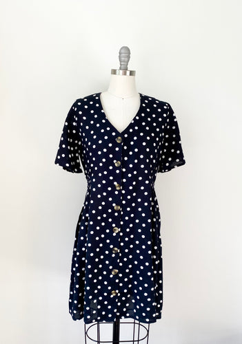 RD Black Polka Dot Mini Dress