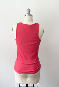 PST Ribbed Button Tank