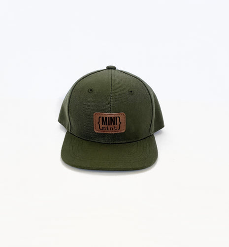 Mini Mint Infant/Toddler Leather Patch Snapback Hat