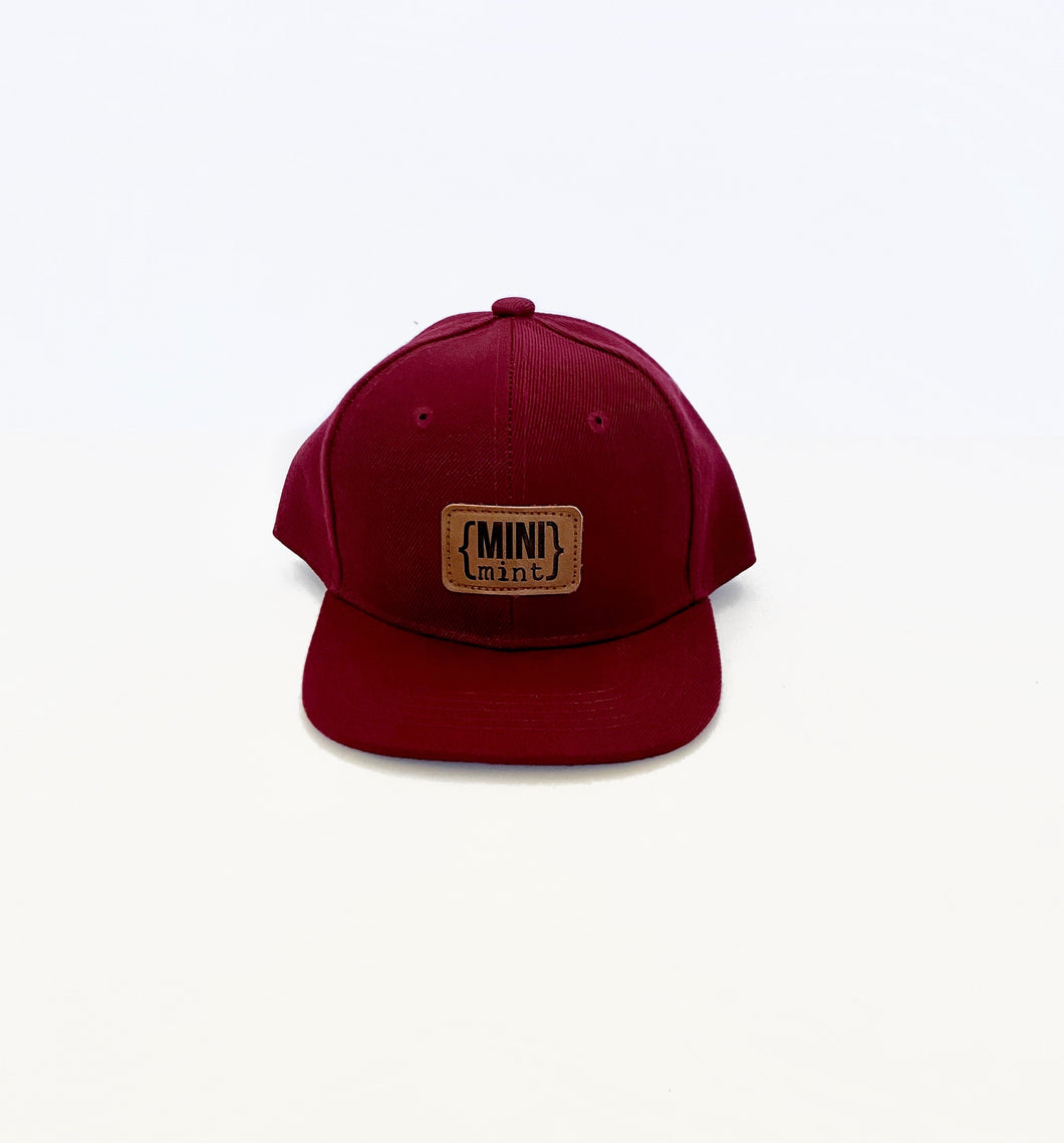 Mini Mint Youth Leather Patch Snapback Hat
