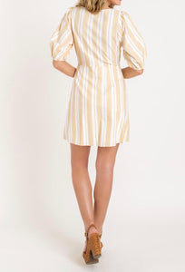 Lush Sweetheart Puff Sleeve Mini Dress