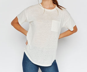 T&S Pocket Tee in Ivory