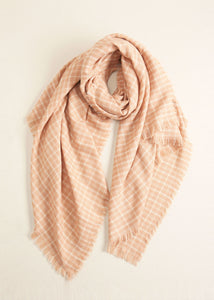 NP Blush Plaid Blanket Scarf