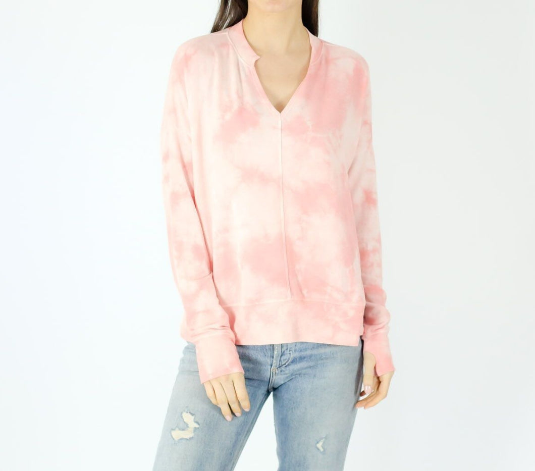 SF Notch Neck Tie Dye Top