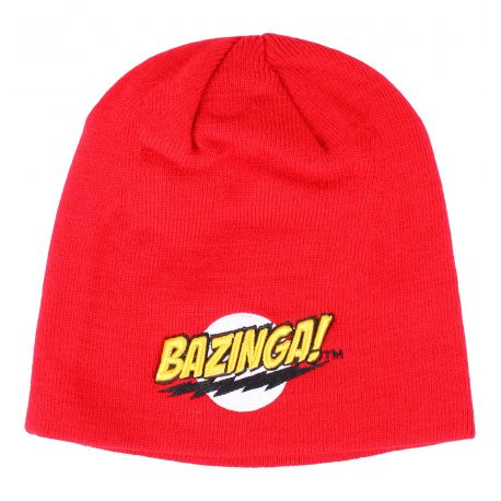 Bonnet The Big Bang Theory - Bazinga Logo Red - MOVIESTORE