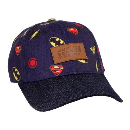 Casquette Justice League DC Comics - All Over Logo Classic - MOVIESTORE