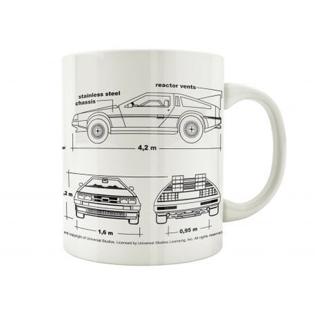Mug Back to the Future - Delorean plan - MOVIESTORE