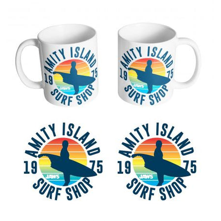 Mug Les dents de la mer - Amity Island Surf Shop - MOVIESTORE