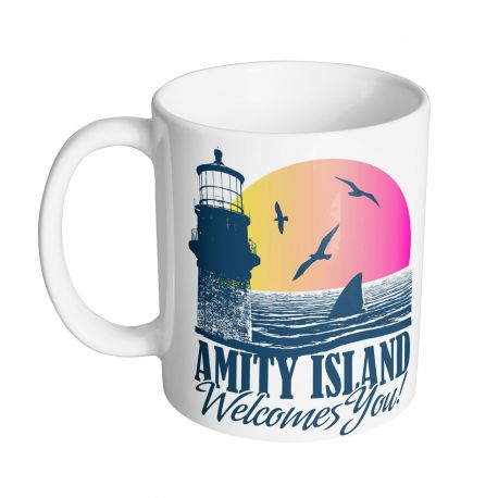 Mug Les dents de la mer - Amity Island Welcome you - MOVIESTORE