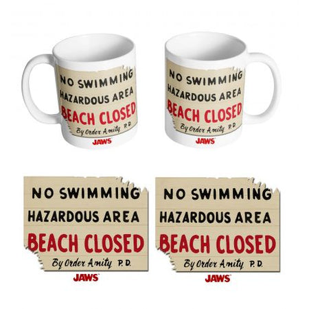 Mug Les dents de la mer - Beach Closed - MOVIESTORE