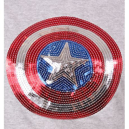 Pull Over Captain America Marvel Femme - Shield Sequin - MOVIESTORE