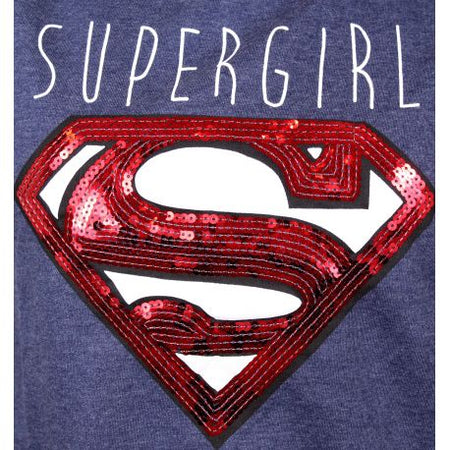Pull Over Superman DC Comics Femme - Supergirl Sequin - MOVIESTORE