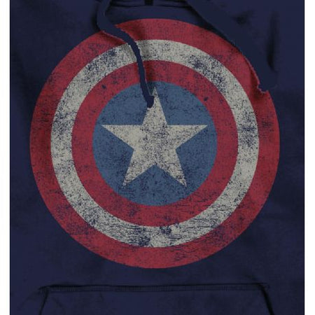 Sweat-shirt Captain America - Logo Grunge Vintage - MOVIESTORE