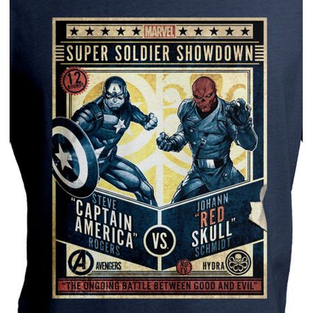 T-shirt Captain America Marvel - Super Soldier - MOVIESTORE