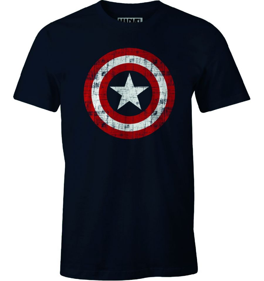 T-shirt Captain America Marvel - The Shield - MOVIESTORE
